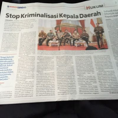 "Jokowi Instruksikan Polisi dan Jaksa Hentikan Kriminalisasi Kepada Kepala Daerah Prof Romli: Koalisi LSM Anti Korupsi Jangan Mingkem!  [portalpiyungan.com]Selasa 19 Juli 2016 kemarin Jokowi memberi ""pengarahan"" di hadapan para penegak hukum (petingi Polri dan Kejaksaan negeri). Dalam ""pengarahan"" tersebut ada beberapa catatan yang diberikan Presiden. Secara halus sebagai Presiden Jokowi memberikan instruksi meski bentuknya tak formal. Salah satu instruksi terpenting ada;ah untuk…"