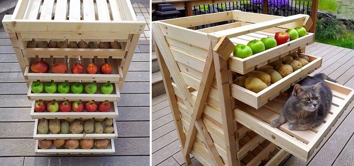 Food Storage Shelf http://www.handimania.com/diy/food-storage-shelf.html