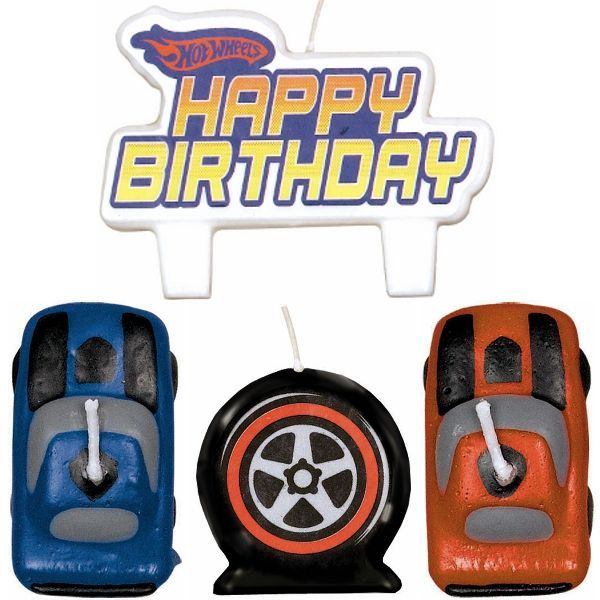 Hot Wheels Speed City Molded Cake Candles 4ct