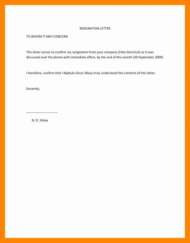 Resignation Letter Effective Immediately Lovely 5 Resignation