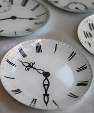 I wanna make these with all my kids time of birth with different fonts of numbers etc to display, using a sharpie on white plates