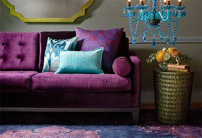 purple velvet and jewel tones