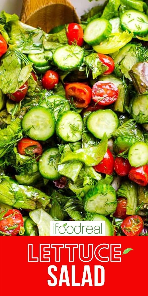 Lettuce Salad With Tomato And Cucumber In 2020 Lettuce Salad Lettuce Salad Recipes Easy Healthy Salad