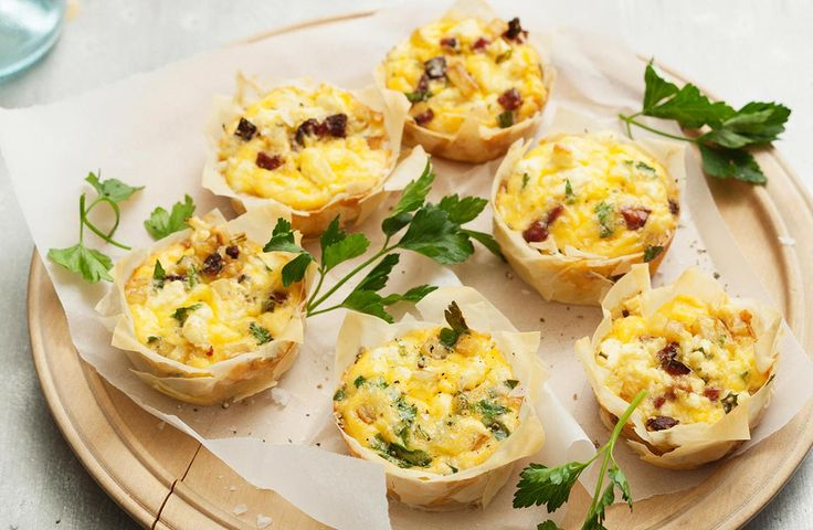 Potato and Fetta Filo Tarts. Gorgeous, crunchy Filo Tarts, filled with juicy chorizo sausage and potato. Great for an afternoon snack, or canapes when you're entertaining. #Lemnos #snack #fetta #recipe #instafood
