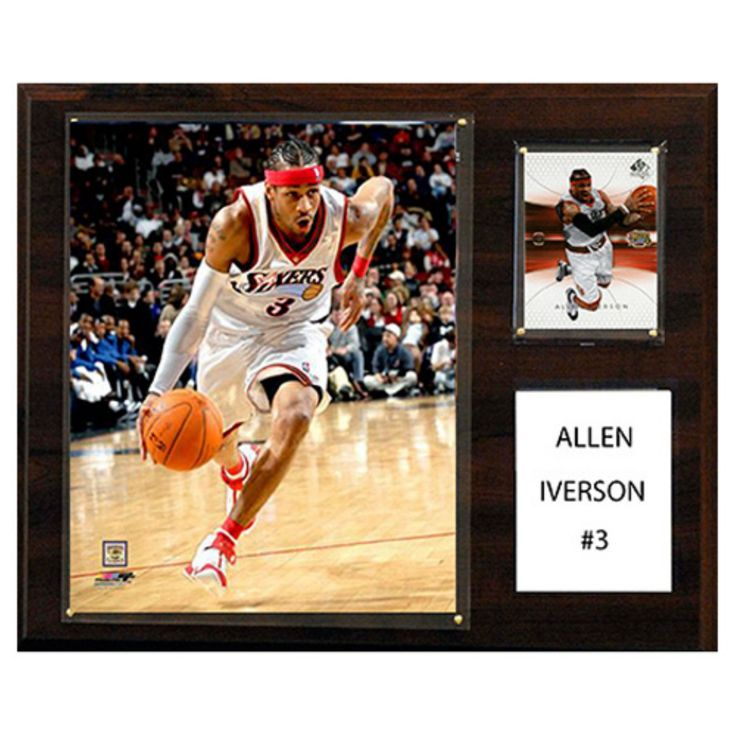 C and I Collectables NBA 15W x 12H in. Allen Iverson Philadelphia 76ers Player Plaque - 1215IVERSON