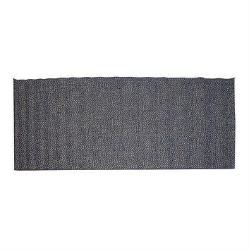Briscoes - Essenza Grey Pattern Rug 80x200cm