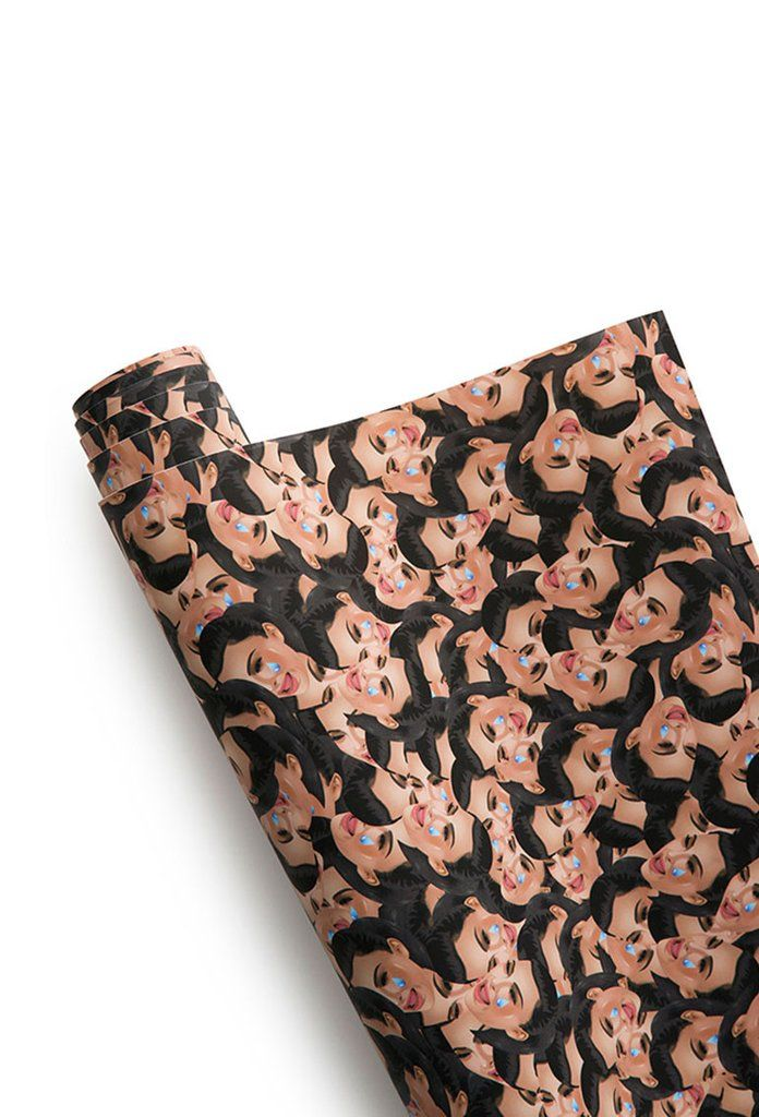 KIMOJI CRY FACE COLLAGE WRAPPING PAPER