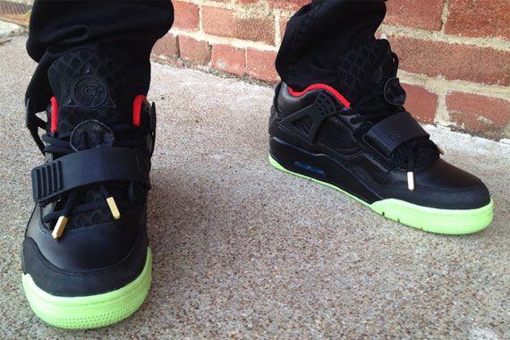 Nike Air Yeezy 2 x Air Jordan IV Customs by Ammo Skunk & SewnUpSoles