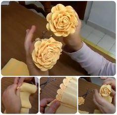 come fare rose in carta crespa tutorial