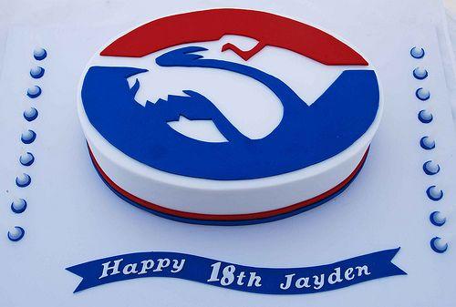 AFL Bulldogs Cake