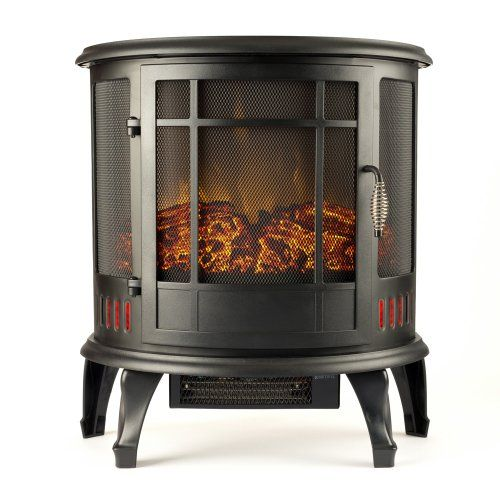 "Regal Electric Fireplace - e-Flame USA 22"" Portable Electric Fireplace with 1500W Space Heater"