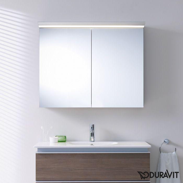 Duravit Darling New Ein Optimal Ausgeleuchtetes Spiegelbild Haben Sie Dank Der Aufsatzleuchte Des Spiegelschranks Von Duravit Spiegelschrank Schrank Duravit