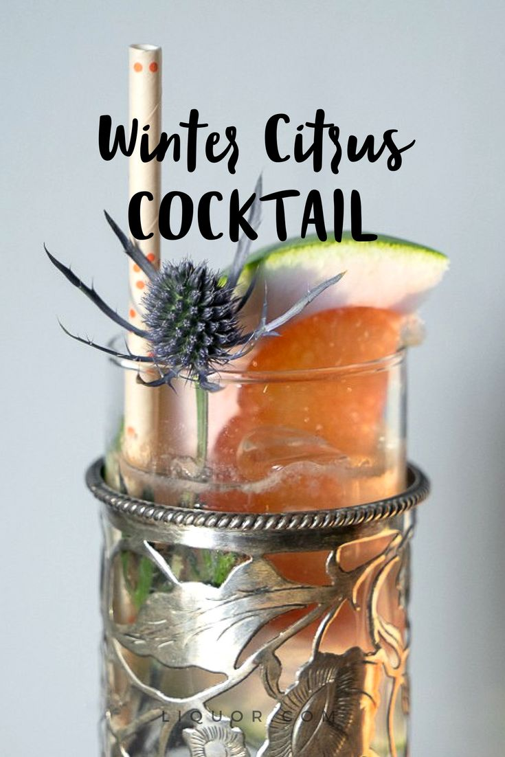 This tasty highball #cocktail is made with different #winter #citrus fruits and #tequila so what's not to love?
