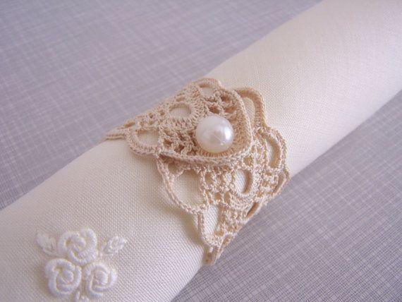 crochet napkin rings. $42.00, via Etsy.