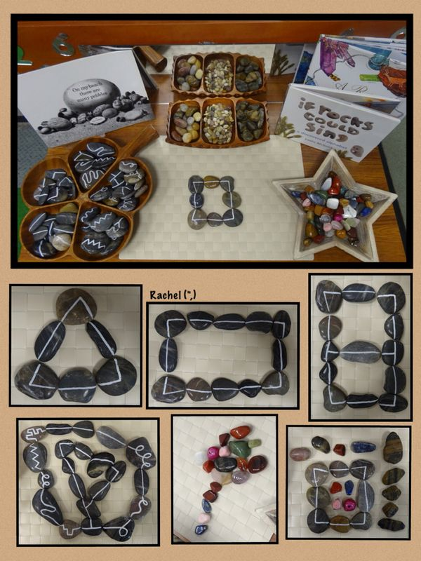 Lots of creative activities using rocks, stones, and pebbles fro Stimulating Learning with Rachel