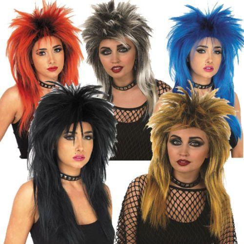 1980s 80s Ladies Glam Rock Punk Rocker Wig Tina Turner Fancy Dress Costume   61a999c6d