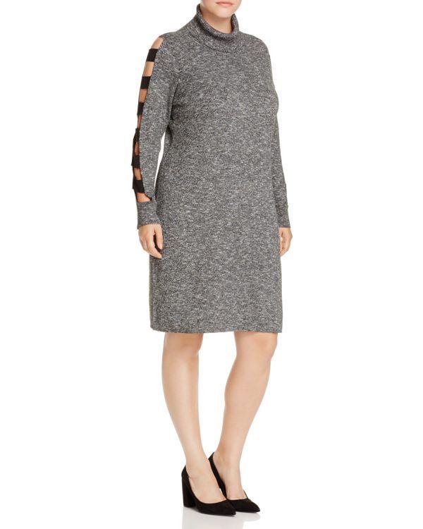 Love Scarlett Plus Ladder Cutout Sleeve Sweater Dress
