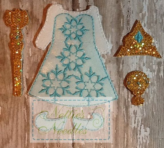 Frozen Elsa Outfit and Accessories For Felt by NettiesNeedlesToo, $9.00