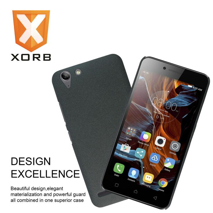 XORB™ Lenovo Vibe K5 Plus Hard Back Cover Sandstone Finish Slim Case for K5 Blck