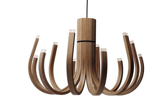 Lighting designer Mikko PaakkanenWooden Chandeliers, Led Lamps, Design Mikko, Unusual Wooden, Mikko Paakkanen, June Chandeliers, Products Design, Pendants Lights, Lights Ideas