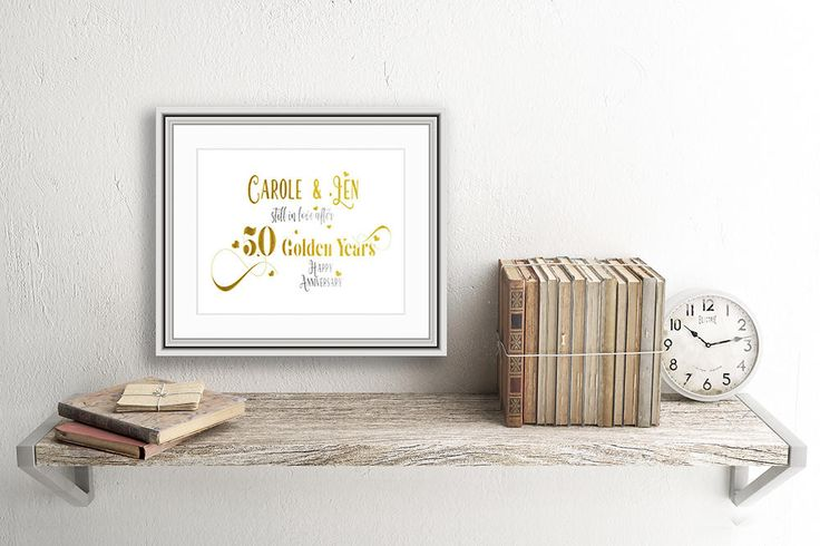 Personalised, Real Foil, Golden Wedding Anniversary Print, 50th Anniversary, Anniversary Print, Anniversary Gift, Golden Wedding Gift by SBsPrintables on Etsy