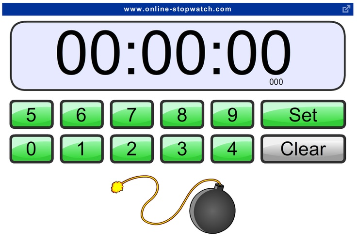 Technology Tailgate: Online Classroom Stopwatches and Countdown Timers
