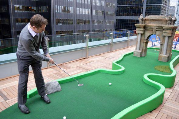 Google Toronto Office Rooftop Mini Golf Diy Backyard