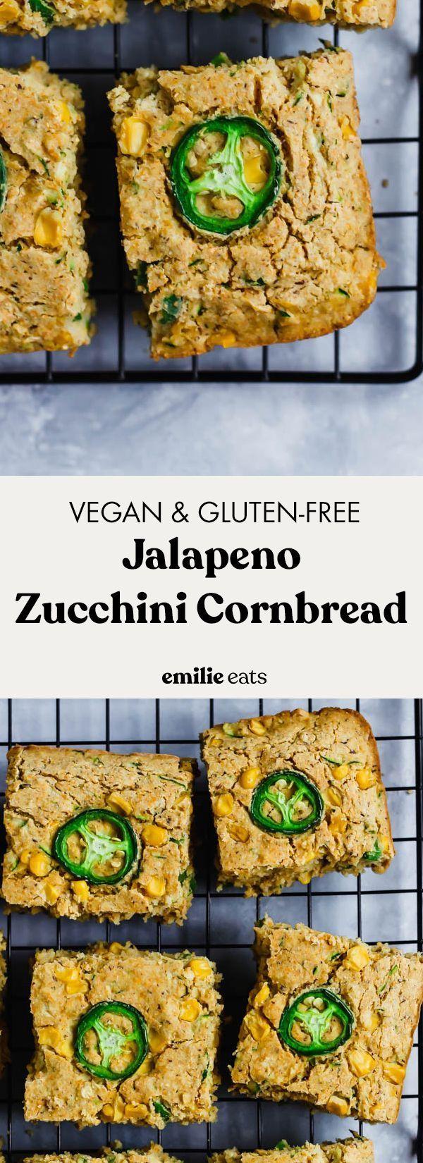 Jalapeno Zucchini Cornbread (végétalien et sans gluten)