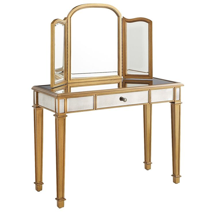 Hayworth Mirror & Vanity - Gold