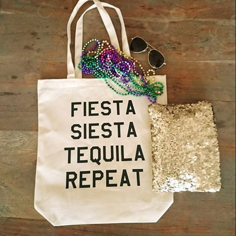 Fiesta Siesta Tequila Repeat bachelorette party totes #bachelorette #party #favors #bags - - > WeddingBags.com