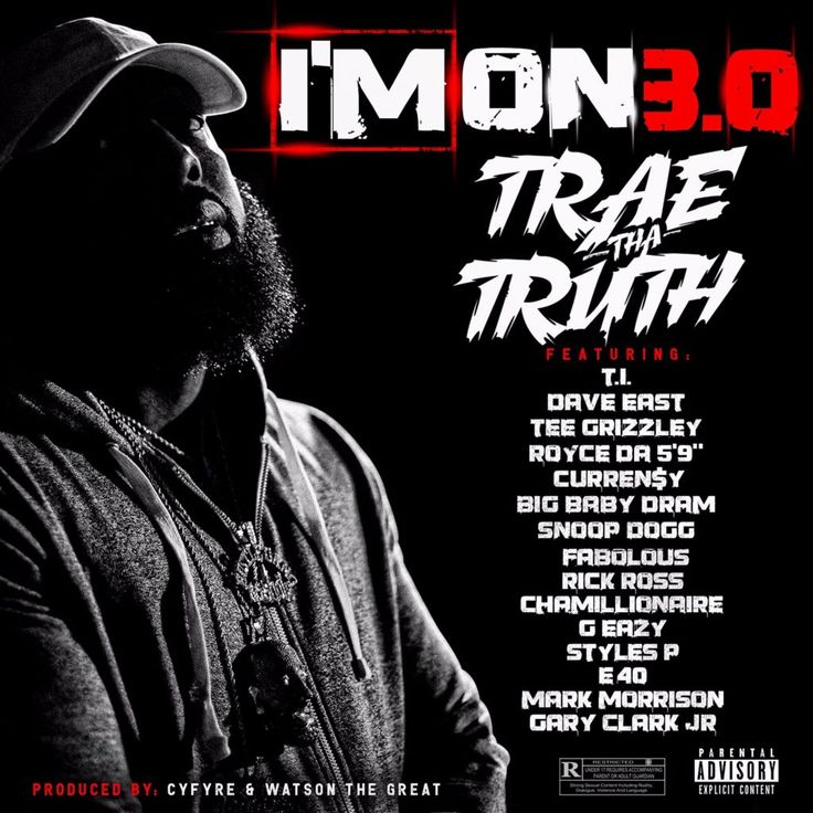 "Good grief, Trae Tha Truth rounded up a ridiculous lineup of MC's and vocalists for the third installment of his ""I'm On"" song series and the new single from the upcoming Tha Truth Pt. 3 LP. Joining Trae on the track are T.I., Dave East, Tee Grizzley, Royce Da 5'9, Rick Ross, Curren$y, Styles P, D.R.AM, Snoop Dogg, Fabolous, Chamillionaire, G-Eazy, E-40, Mark Morrison and Gary Clark Jr. Click to listen..."
