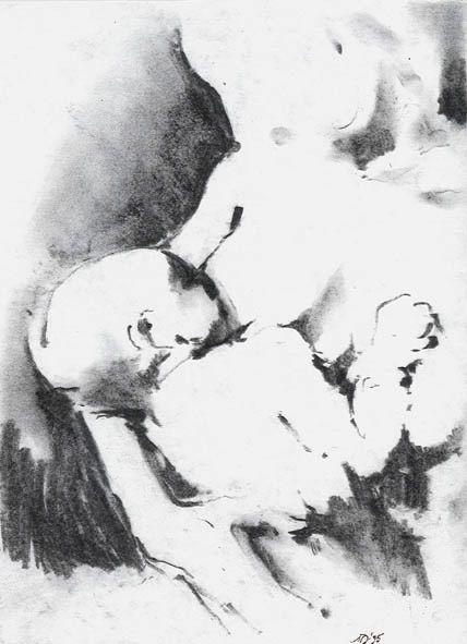 Marek Drtoździel, 20x30 cm, charcoal on paper