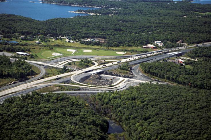 #AerialPhotography of Forest and #Highway Junction #Construction #AerialPhotographer #Aerial [BP imaging - Bochsler Photo Imaging]