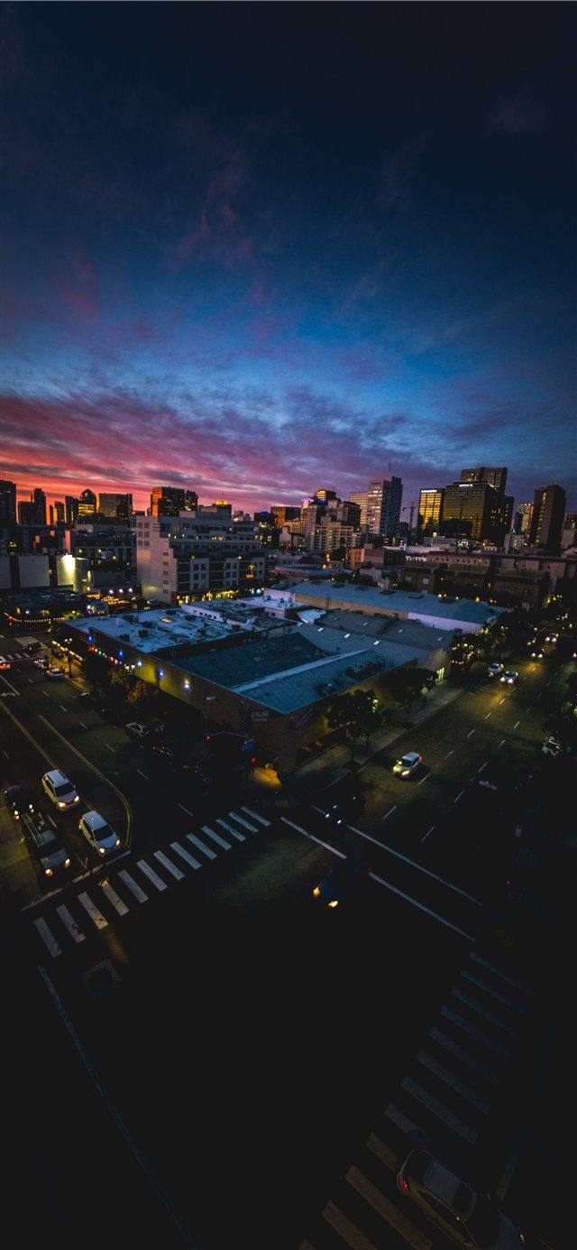 San Diego Sunset Through A Fisheye Lens Iphone X Wallpapers Cityscape Wallpaper City Wallpaper Cityscape