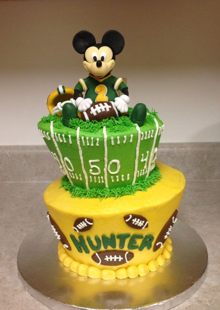 mickey mouse football cake