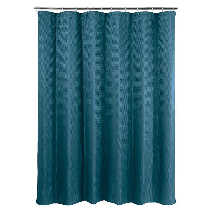 Basket Weave Shower Curtain - Dark Teal (Blue)