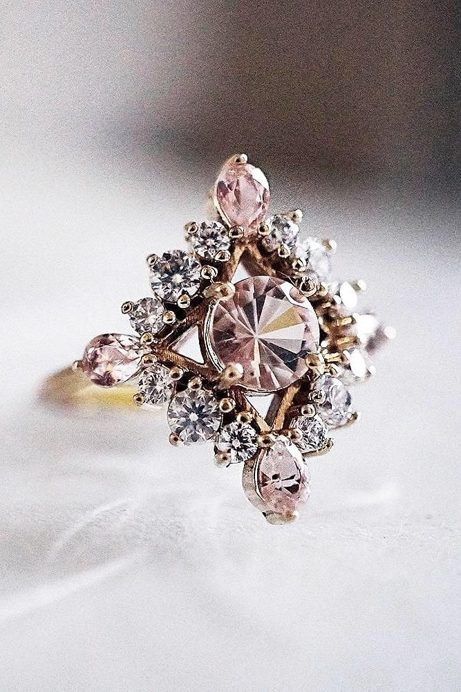 42 Morganite Engagement Rings We Are Obsessed With – Dresses & Make Up