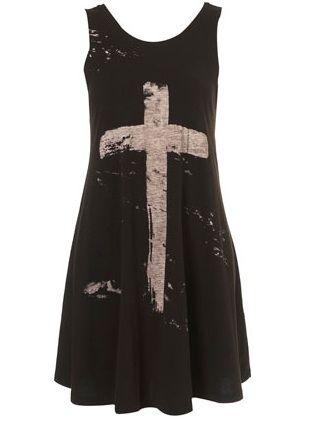 Topshop Cross Print Swing Dress: