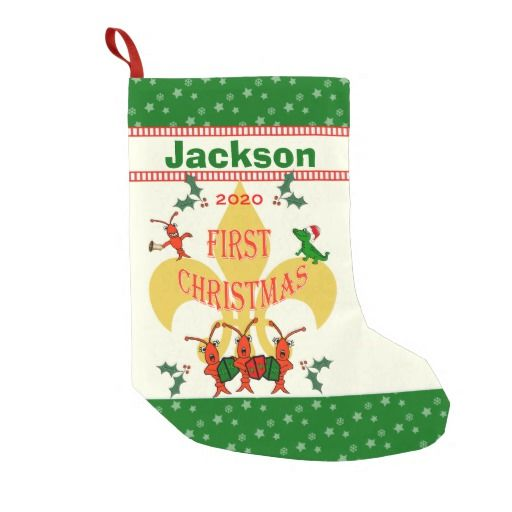 Cajun Baby First Christmas Personalized Christmas Stocking