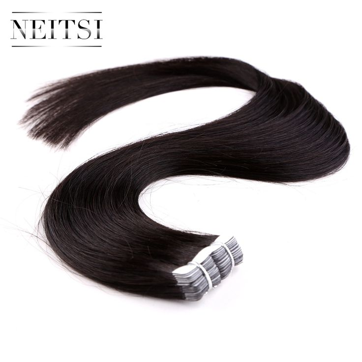 ==> [Free Shipping] Buy Best Neitsi Mini Tape In Human Hair Extensions 20 1b# Natural Black 2gs 20pcspack Indian Remy Straight Skin Weft Virgin Remy Hair Online with LOWEST Price | 32789298504