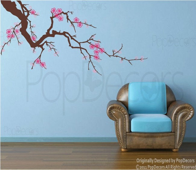 Best Amazing Cherry Blossom Decals Images On Pinterest Tree - How do you put up wall art stickers