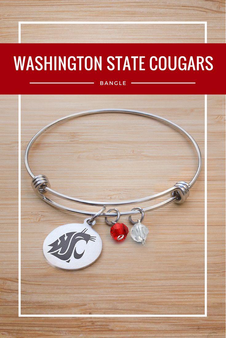 Washington State University Adjustable Bangle Bracelet