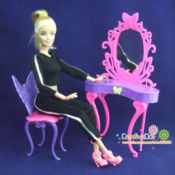 Подарок на день рождения игрушки для девочки играют дома игрушки Фея бабочка комод туалетный столик со стульями дом куклы для барби кукла