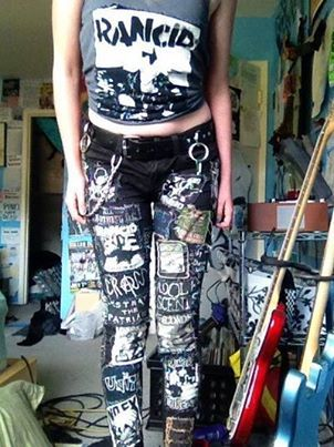 I really want some patchwork jeans