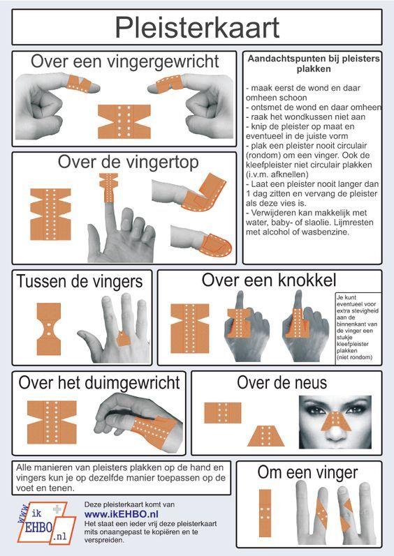 Hoe moet je een dergelijke snijwond behandelen? En hoe plak je een pleister op een gewricht of een andere lastige plek, zoals het topje van je vinger?
