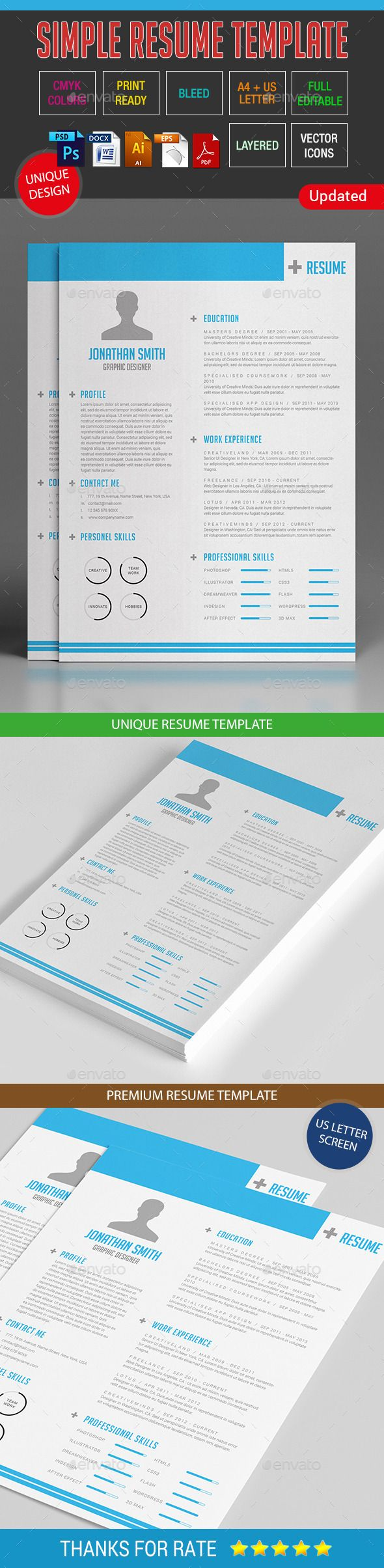 simple resume template 10