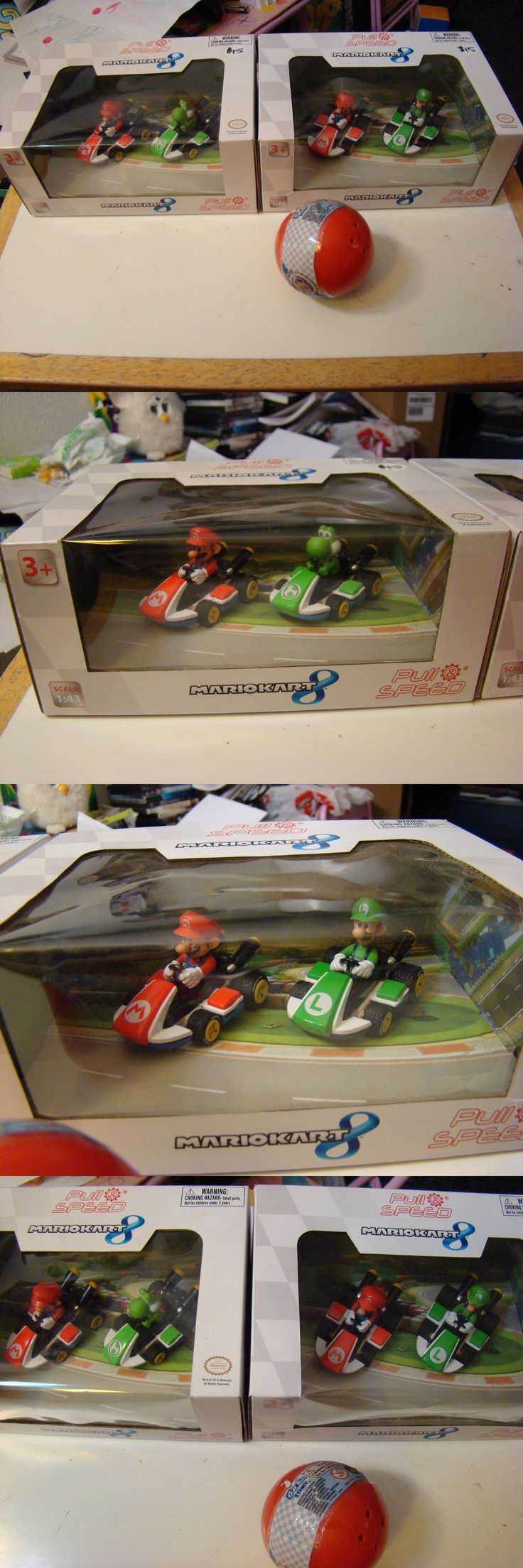1970-Now 152936: Mario Kart 8 Pull Speed Mario Yoshi And Mario Luigi Nintendo Cars Nib + Extra -> BUY IT NOW ONLY: $49.99 on eBay!