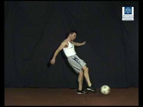 Football free kick - Slow motion video