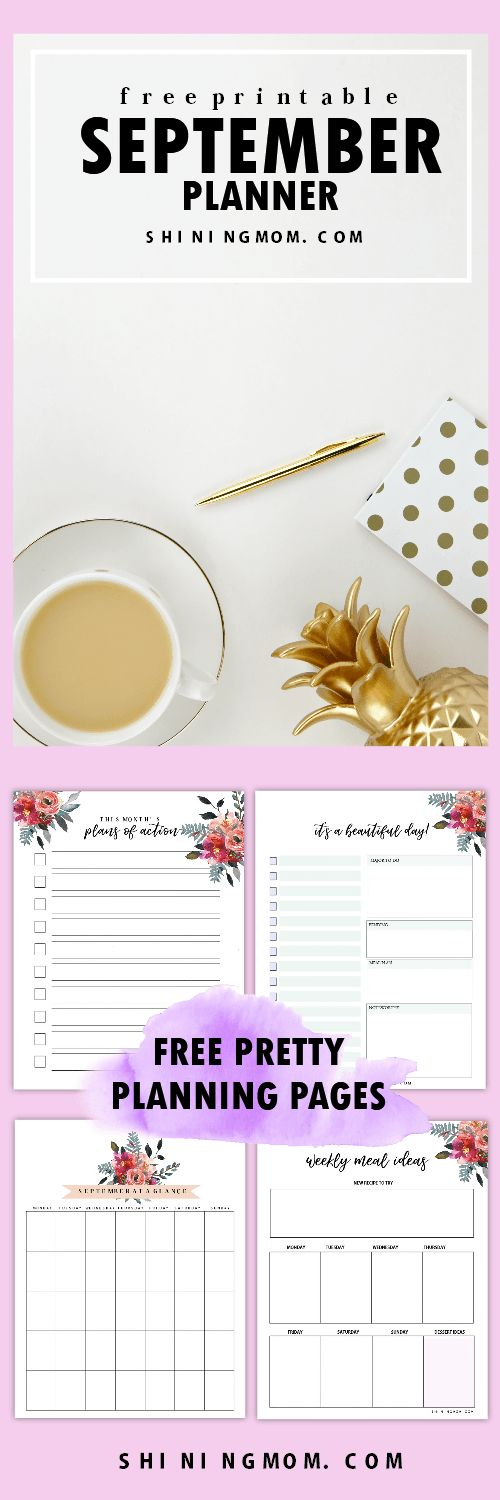 The FREE September planner is out--- finally! Get your free copy! #SeptemberPlanner #freeplanner