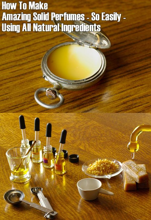 Blog » How To Make Amazing Homemade Solid Perfumes Using All Natural Ingredients